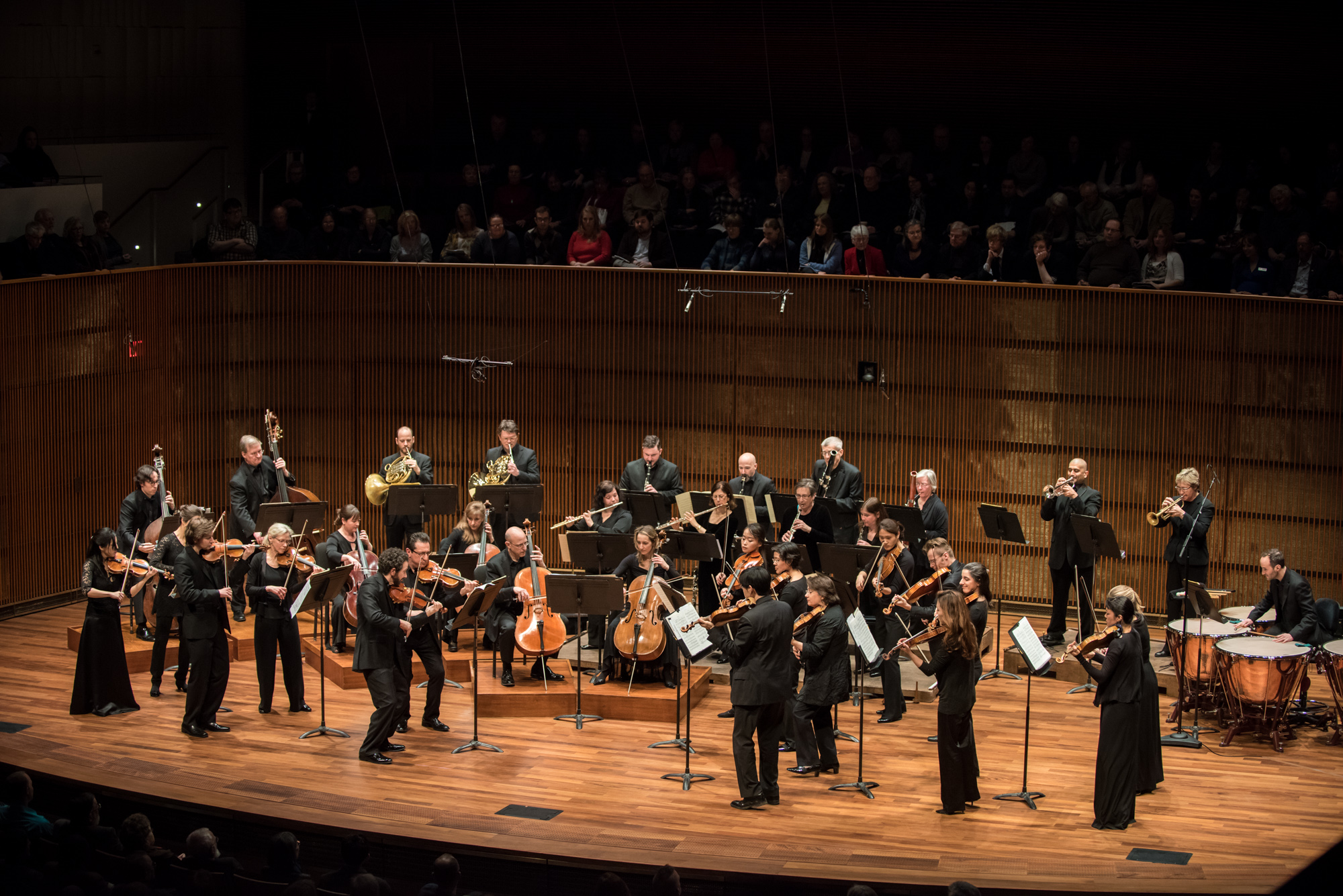 The SPCO onstage at the Ordway's new Concert Hall
