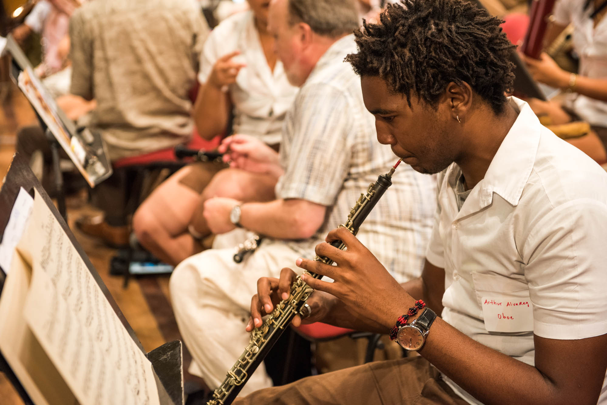 Oboist from the National Cuban Youth Symphony