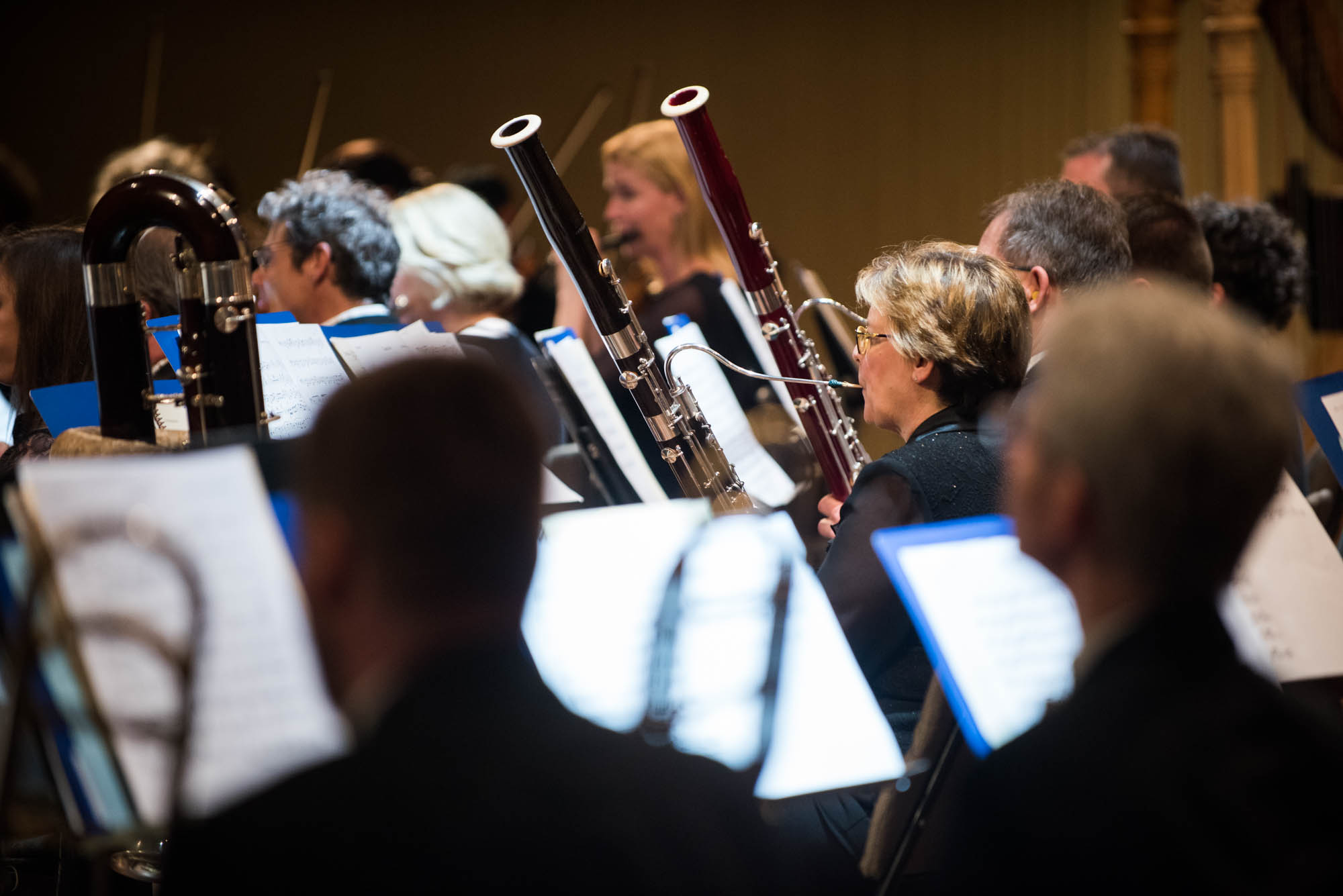 The woodwinds section of the Minnesota Orchestra.